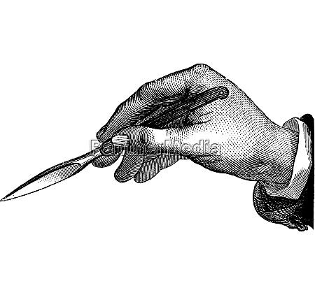 position du bistouri dans lincision simple