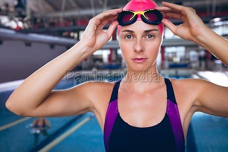 swimmer in a swimming stadium