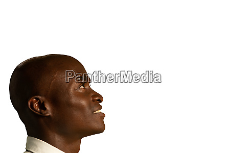 profile of young businessman