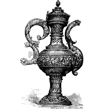 ewer vintage engraving
