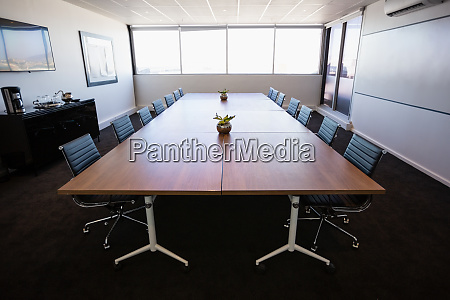 empty modern meeting room at office