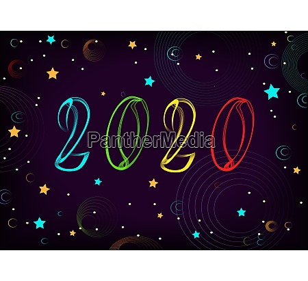 new year 2020 space stars planets