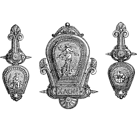 roman jewellery depicting gods and allegory
