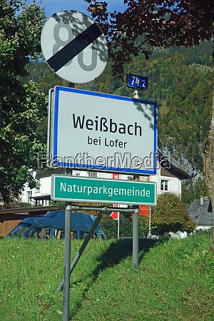 sign ortsschild OEsterreich austria weissbach bei