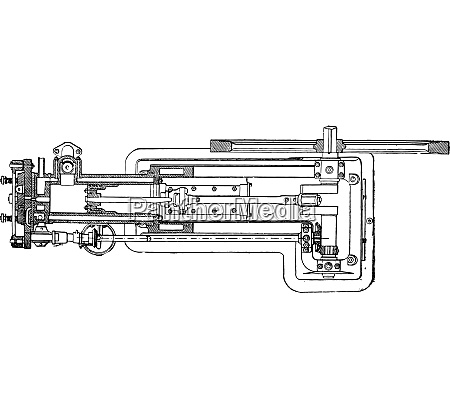otto engine in plan and horizontal