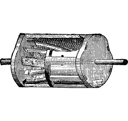 detacher vintage engraving