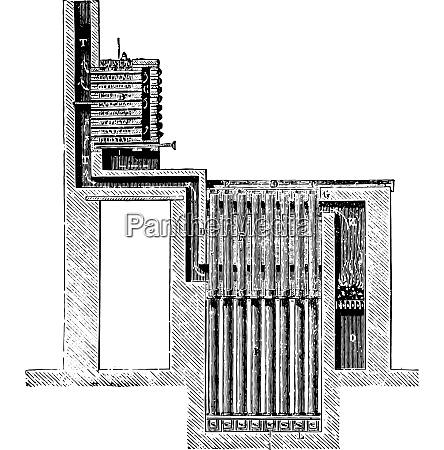 furnace blaise vintage engraving