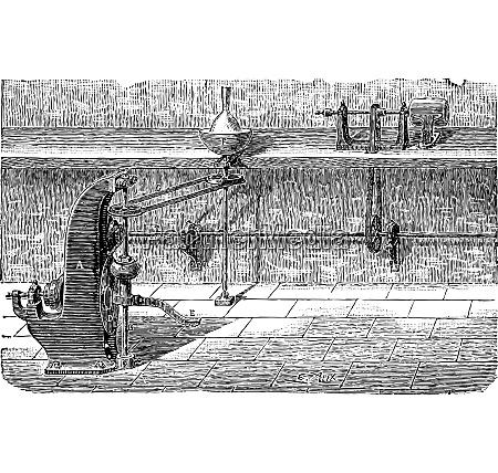 lathe vintage engraving