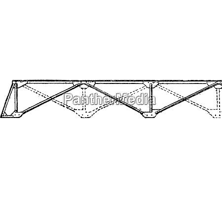 assembling a portable bridge beam vintage