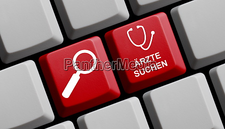 computer keyboard with german text meaning