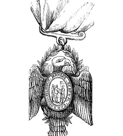 society of the cincinnati vintage engraving