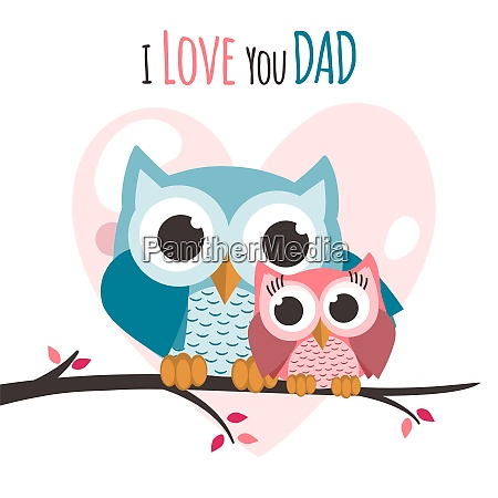 fathers day owls on a tree