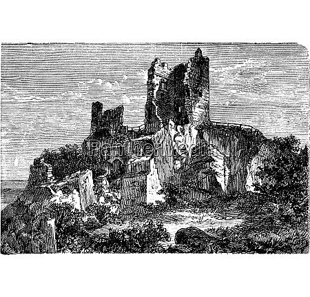 ruin of drachenfels castle in rhineland