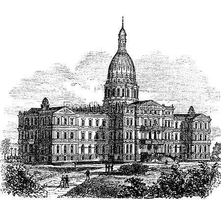 michigan state capitol building lansing united