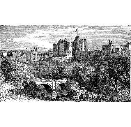 alnwick castle in alnwick northumberland county