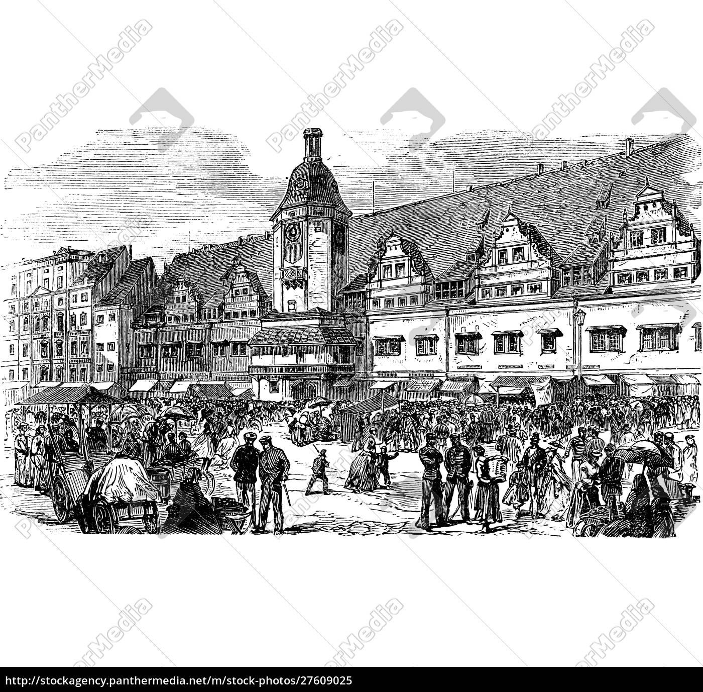 city, hall, and, market, place, in - 27609025