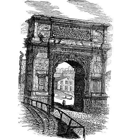 arch of titus on via sacra