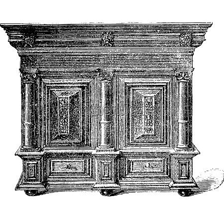 dutch furniture carved wooden seventeenth century