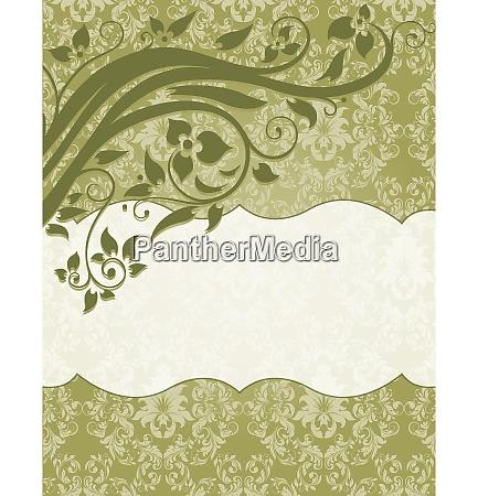 elegant damask invitation card