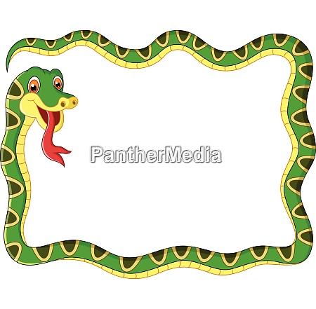 illustration snake frame