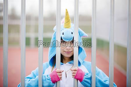 beautiful young woman wearing turquoise unicorn
