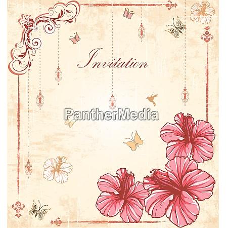 vintage invitation card with ornate elegant