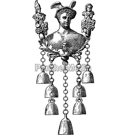 bells vintage engraving