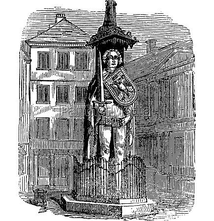 bremen roland statue bremen germany vintage