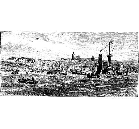 boulogne sur mer city france vintage