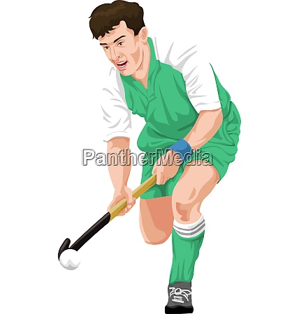 vector of hockey player