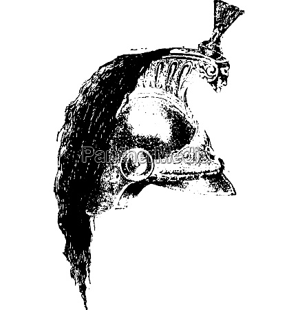 dreadnaught helmet vintage engraving