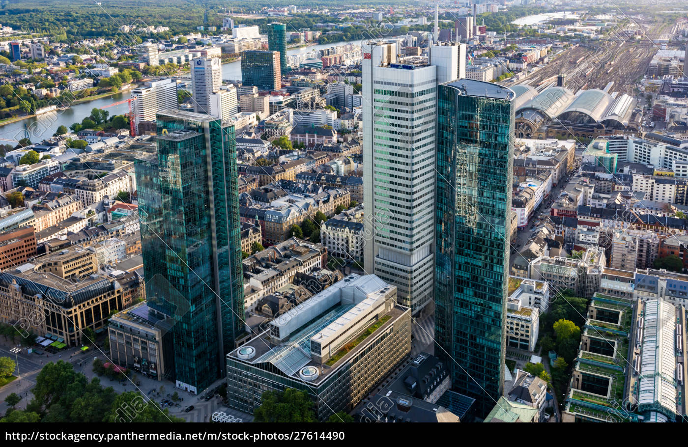 aerial, view, over, frankfurt, and, its - 27614490