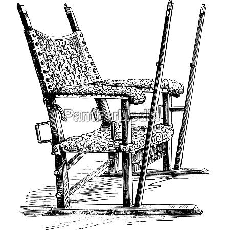 sedan chair of charles v vintage