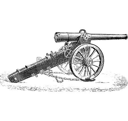 canon 155mm mountain 1877 model vintage