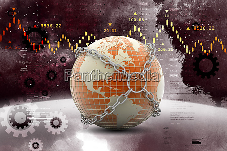globe with chain