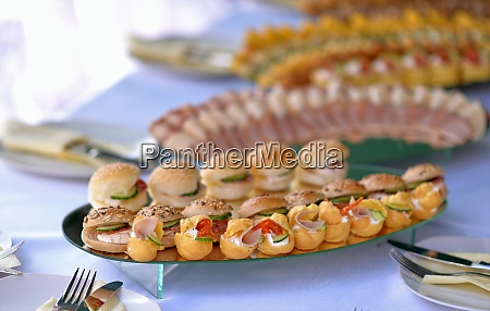 variety catering food on a table