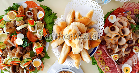 catering buffet or party food appetizers
