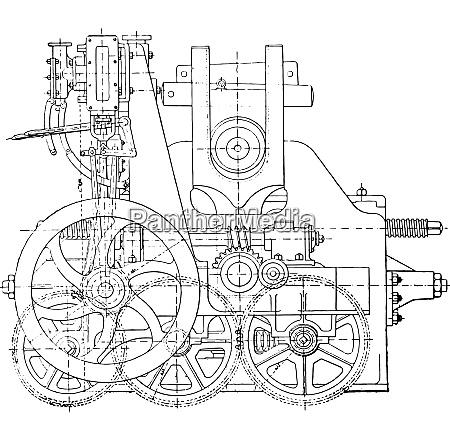 bending machine vintage engraving