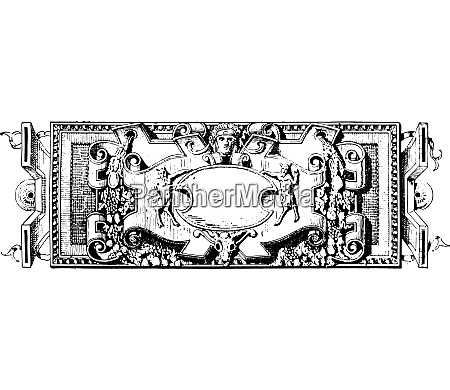 ornament renaissance sculpture vintage engraving