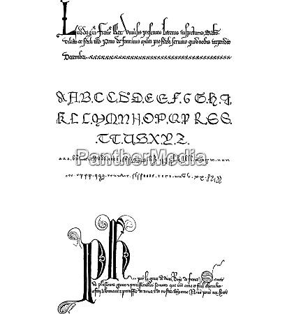 manuscript vintage engraving