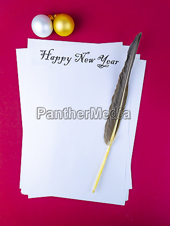 happy new year greeting on a