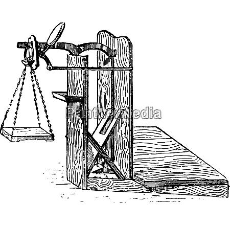 scales vintage engraving