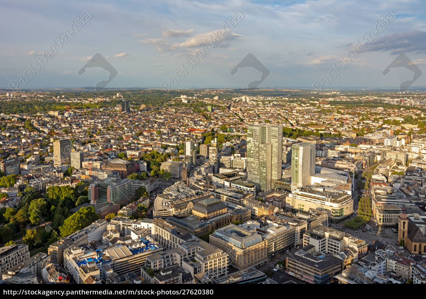 aerial, view, over, frankfurt, and, its - 27620380