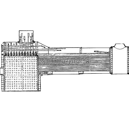 longitudinal section of an american locomotive