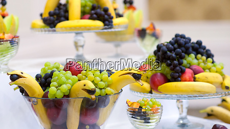 various fruits on a table food
