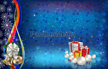 abstract background with christmas bells and