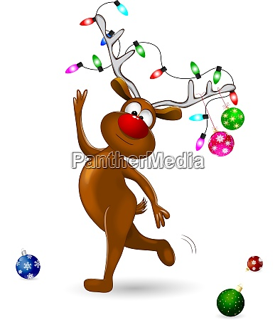 deer, decorated, with, christmas, decorations - 27621782