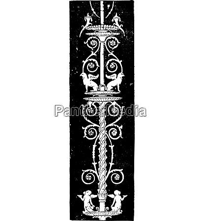 pillar vintage engraving