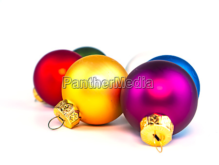 christmas toys on a white background