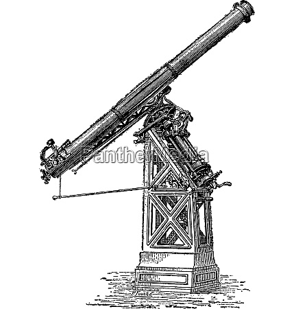 equatorial telescope called observatory of paris